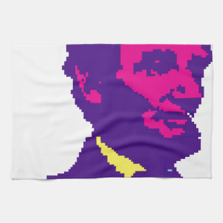 Abraham Lincoln Pixelated Hand Towels