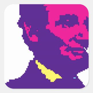 Abraham Lincoln Pixelated Square Sticker