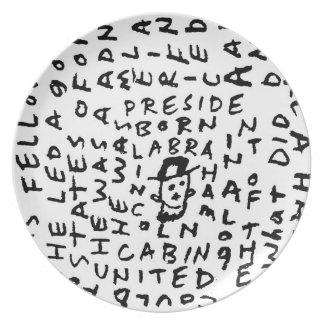 Abraham Lincoln Dinner Plates