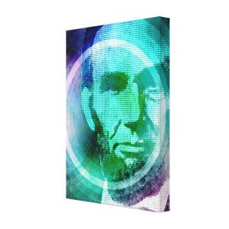Abraham Lincoln Pop Art Canvas Print