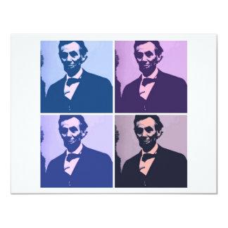 Abraham Lincoln Pop Art Card