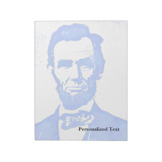 Abraham Lincoln Pop Art Portrait Notepad