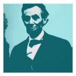 Abraham Lincoln Pop Art Poster