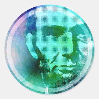 Abraham Lincoln Pop Art Round Sticker