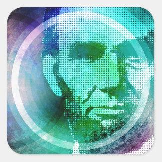 Abraham Lincoln Pop Art Square Sticker