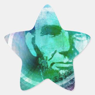 Abraham Lincoln Pop Art Star Sticker