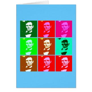 Abraham Lincoln Pop Art T-shirts, Sweats Greeting Card
