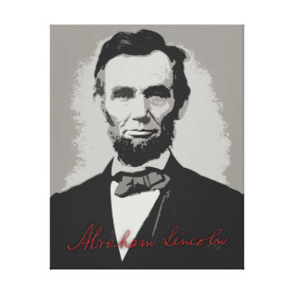 Abraham Lincoln Pop Art with Autograph Canvas