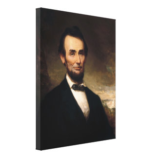 Abraham Lincoln por la historia de George H Impresiones En Lienzo Estiradas