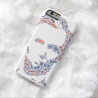 Abraham Lincoln Portrait American Cities Tag Cloud Barely There iPhone 6 Case