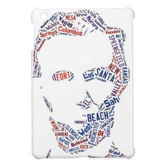 Abraham Lincoln Portrait American Cities Tag Cloud iPad Mini Case