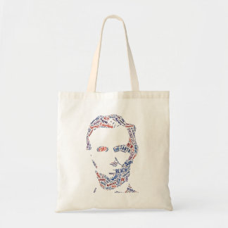 Abraham Lincoln Portrait American Cities Tag Cloud Tote Bag