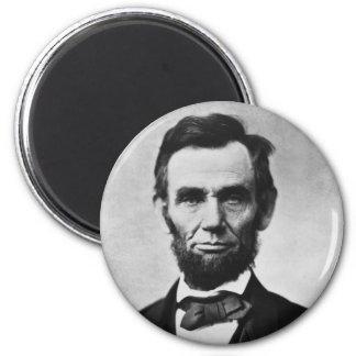 Abraham Lincoln Portrait by Alexander Gardner 2 Inch Round Magnet