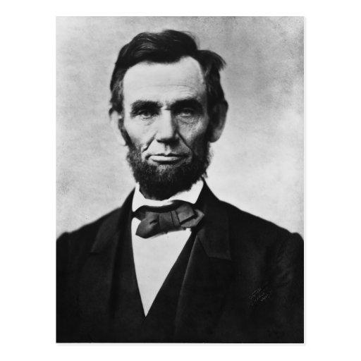Abraham Lincoln Portrait by Alexander Gardner Post Card