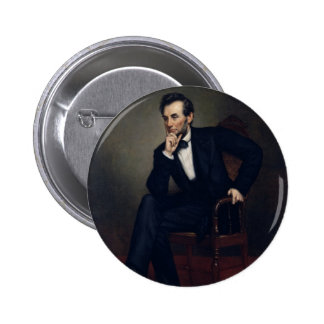 Abraham Lincoln Portrait by George Healy 2 Inch Round Button