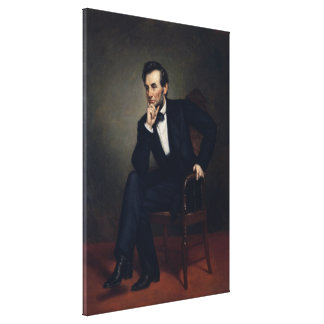 Abraham Lincoln Portrait by George Healy Gallery Wrapped Canvas