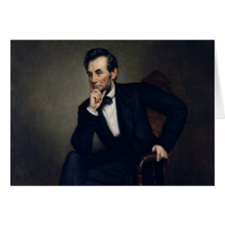Abraham Lincoln Portrait by George Healy Card