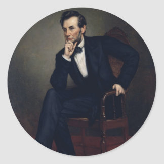 Abraham Lincoln Portrait by George Healy Classic Round Sticker