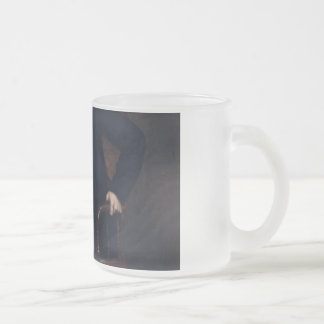 Abraham Lincoln Portrait by George Healy Frosted Glass Coffee Mug