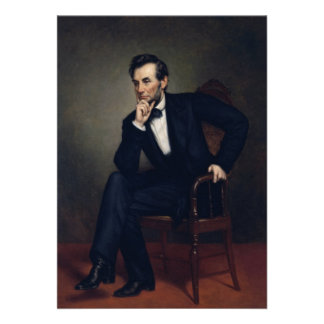 Abraham Lincoln Portrait by George Healy Personalized Invitation