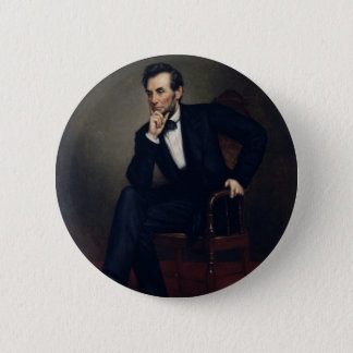 Abraham Lincoln Portrait by George Healy Pinback Button