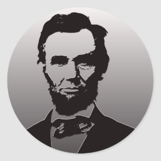Abraham Lincoln Portrait Classic Round Sticker