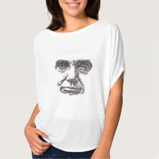 Abraham Lincoln portrait drawing and quote t shirt