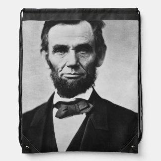 Abraham Lincoln Portrait Drawstring Bag