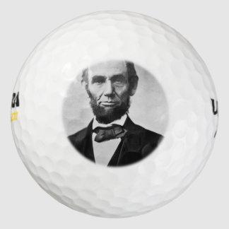 Abraham Lincoln Portrait Golf Balls