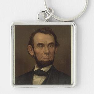Abraham Lincoln Portrait Keychain