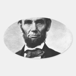 Abraham Lincoln Portrait Oval Sticker
