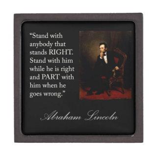 Abraham Lincoln Portrait & Quote Gift Box