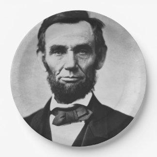 Abraham Lincoln Portrait 9 Inch Paper Plate