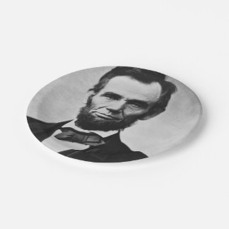 Abraham Lincoln Portrait 7 Inch Paper Plate