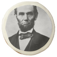 Abraham Lincoln Portrait Sugar Cookie