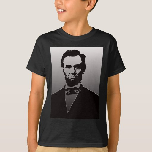 Abraham lincoln portrait t shirt zazzle for T shirt printing lincoln
