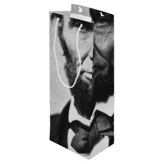 Abraham Lincoln Portrait Wine Gift Bag
