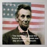 """Abraham Lincoln poster de """"1 paso a la vez"""""""