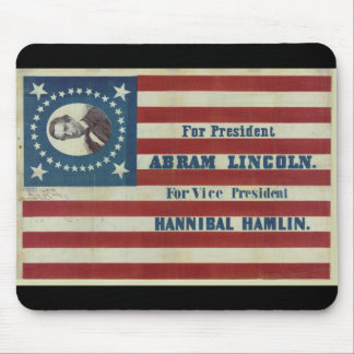 Abraham Lincoln Presidency Campaign Banner Flag Mouse Pad