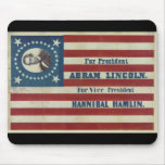 Abraham Lincoln Presidency Campaign Banner Flag Mousepad