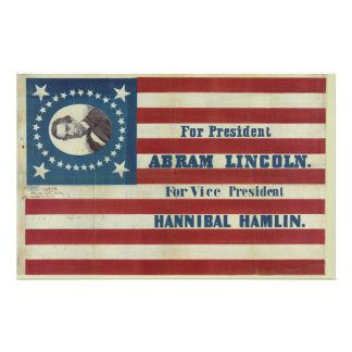 Abraham Lincoln Presidency Campaign Banner Flag Stationery