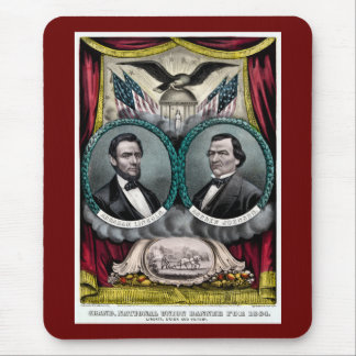 Abraham Lincoln Presidential Campaign 1864 Mouse Pad