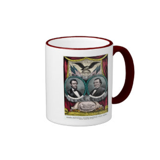 Abraham Lincoln  Presidential Campaign 1864 Ringer Coffee Mug
