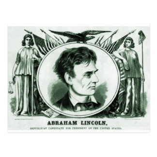Abraham Lincoln Presidential Candidate Postcard