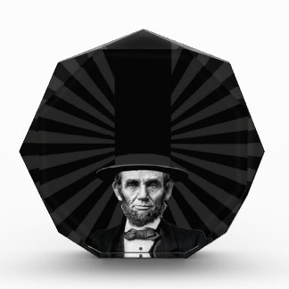 Abraham Lincoln Presidential Fashion Statement Acrylic Award