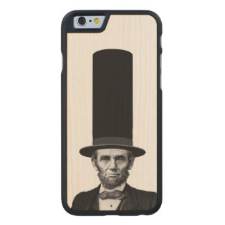 Abraham Lincoln Presidential Fashion Statement Carved Maple iPhone 6 Slim Case