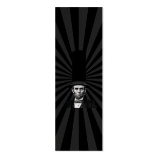 Abraham Lincoln Presidential Fashion Statement Mini Business Card