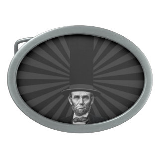 Abraham Lincoln Presidential Fashion Statement Oval Belt Buckle