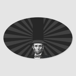 Abraham Lincoln Presidential Fashion Statement Oval Sticker