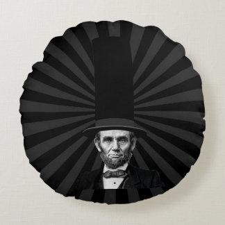 Abraham Lincoln Presidential Fashion Statement Round Pillow